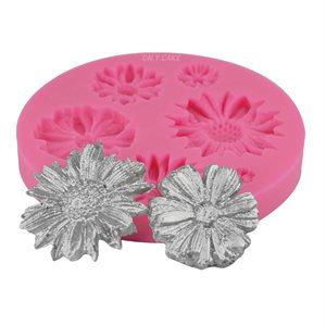 Assorted Daisy Silicone Mold