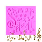 Musical Notes Silicone Mold By NY CAKE