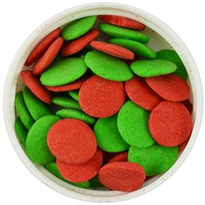 Red & Green Christmas Jumbo Confetti Sprinkles