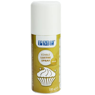 Gold Food Color Spray 100 ml by PME