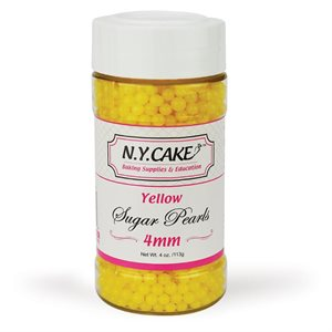 Yellow Sugar Pearls 4mm