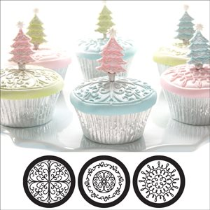 Scroll Cupcake  /  Cookie Stencils