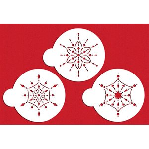 Large Jeweled Snowflakes Stencil Set