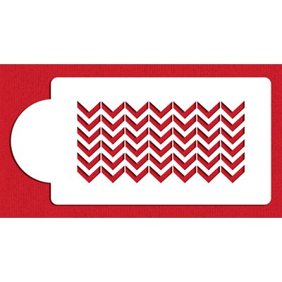 Chevron Cake Side Stencil