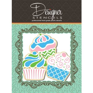 Cupcake Stencil & Tin Cutter Set