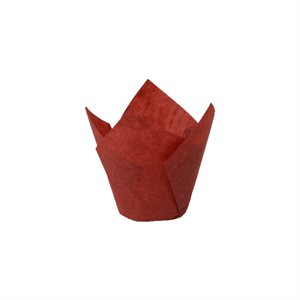 Red Tulip Paper Baking Mold