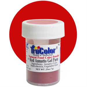 Red Annatto Gel Paste Natural Food Color 7 grams