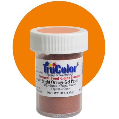 Bright Orange Gel Paste Natural Food Color 10 grams