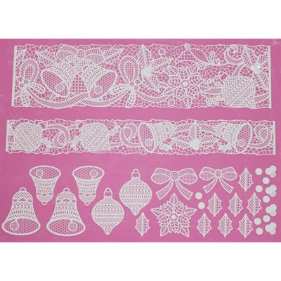 Bells & Bows Large Cake Lace Mat By Claire Bowman