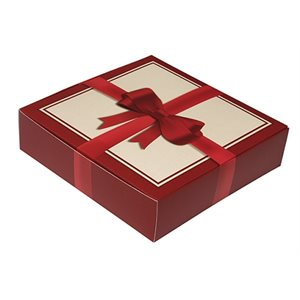 Red Bow Chocolate Box 8 Ounce-Pack of 5