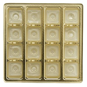 Gold Candy Insert  8 Ounce Tray -16 Cavities