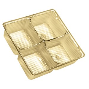 Gold Candy Insert  3 Ounce Tray -4 Cavities