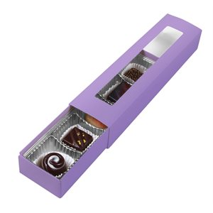 Lavender Chocolate Box 5 Piece Slider-Pack of 5