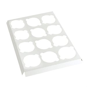 White Cupcake Insert Only Holds 12 Standard Cupcakes- 1 PC