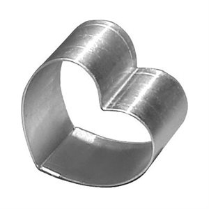Heart Cake Ring Stainless Steel 9 x 2 Inch