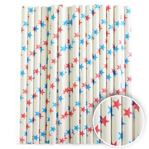 Blue Stars Cake Pop Sticks- 6 Inch -Pack of 25