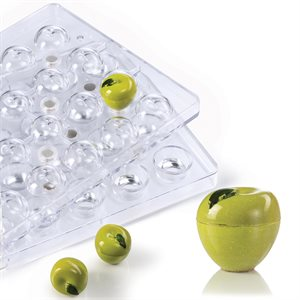 3D Apple Polycarbonate Chocolate Mold-27mm