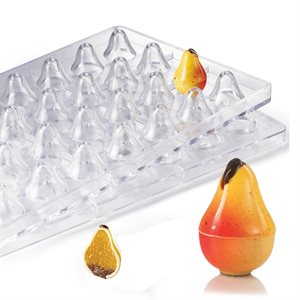 3D Pear  Polycarbonate Chocolate Mold-36mm