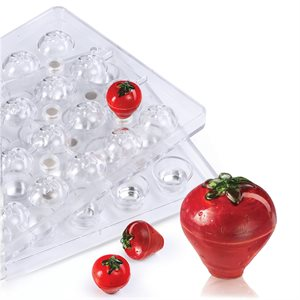 3D Strawberry  Polycarbonate Chocolate Mold-32mm