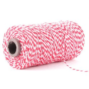Bakers Twine Red & White Cone 1 / 2 Lb