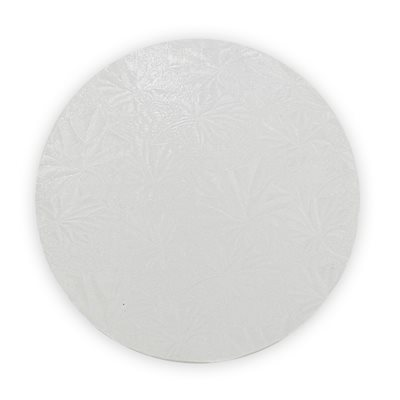12  Inch Round White Cake Board 1 / 2 Inch Thick