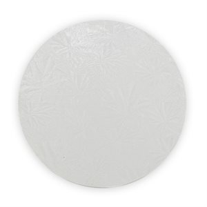 6 Inch Round White Cake Board 1 / 2 Inch Thick