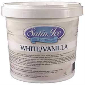 Satin Ice Rolled Fondant Icing White 2 Pounds