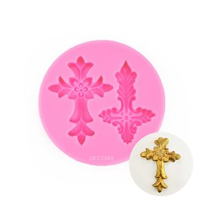 Fancy Cross Fondant Silicone Fondant Mold