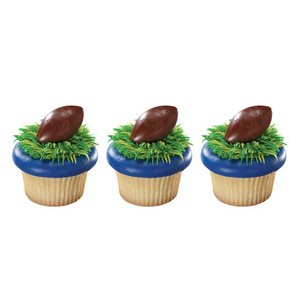 NFL Football Cupcake Rings
