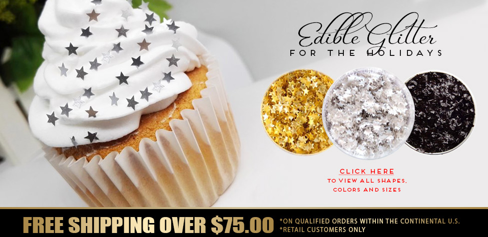 edible glitter for new years party ideas